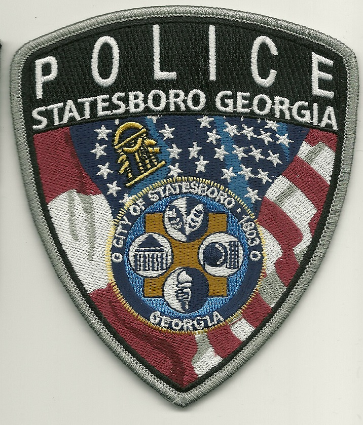 Statesboro Police Shoulder patch US FLAG