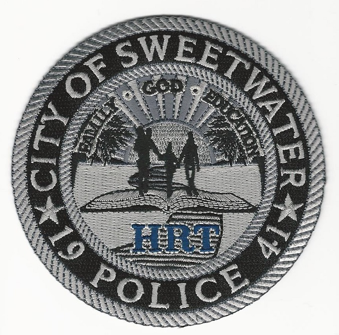 Sweetwater POlice HRT Hostage Rescue Team subdued FLA patch