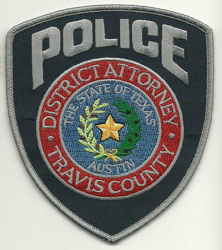 Travis County Distrcit Attorney Police patch