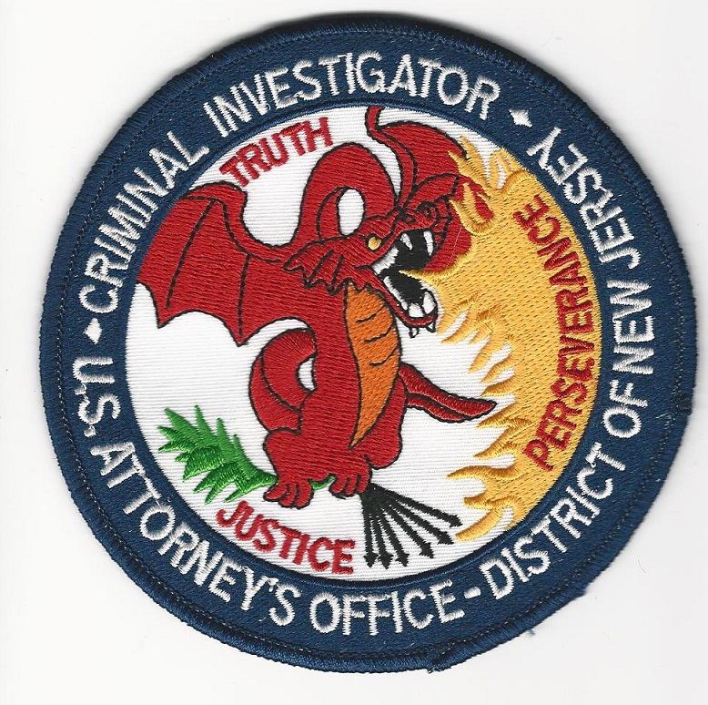 US Attorney New Jersey's Office Dragon patch