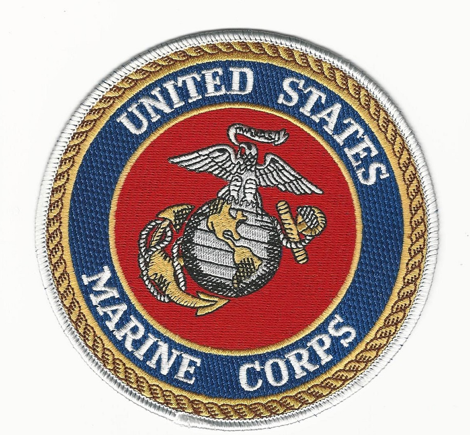 US Marine Corps 5 inch round seal patch USMC