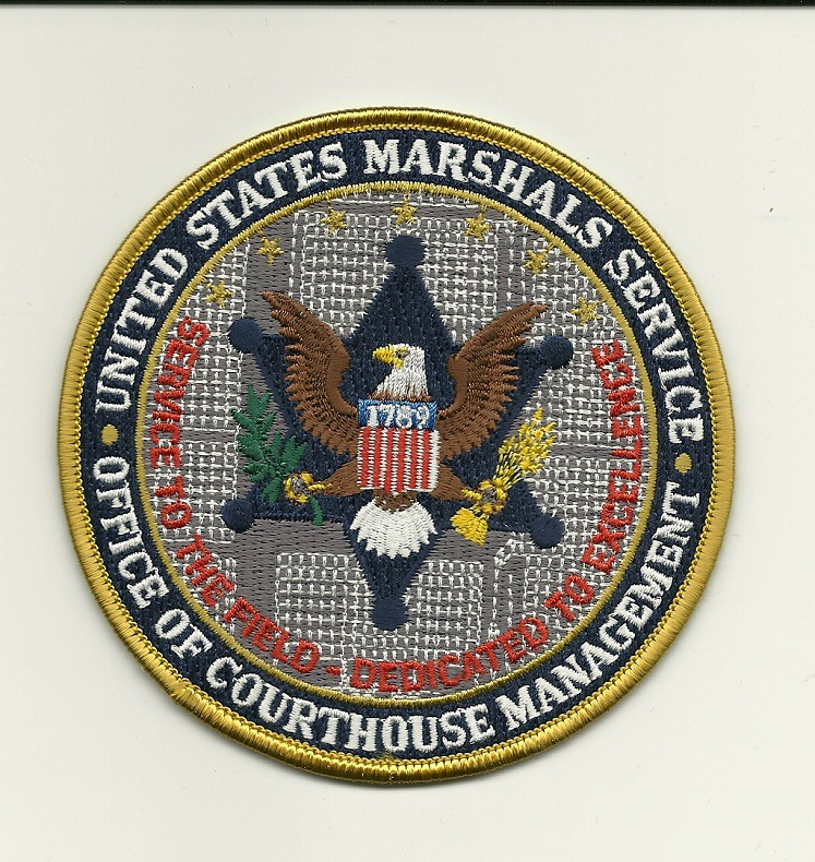 US Marshal Courthouse Managenment patch