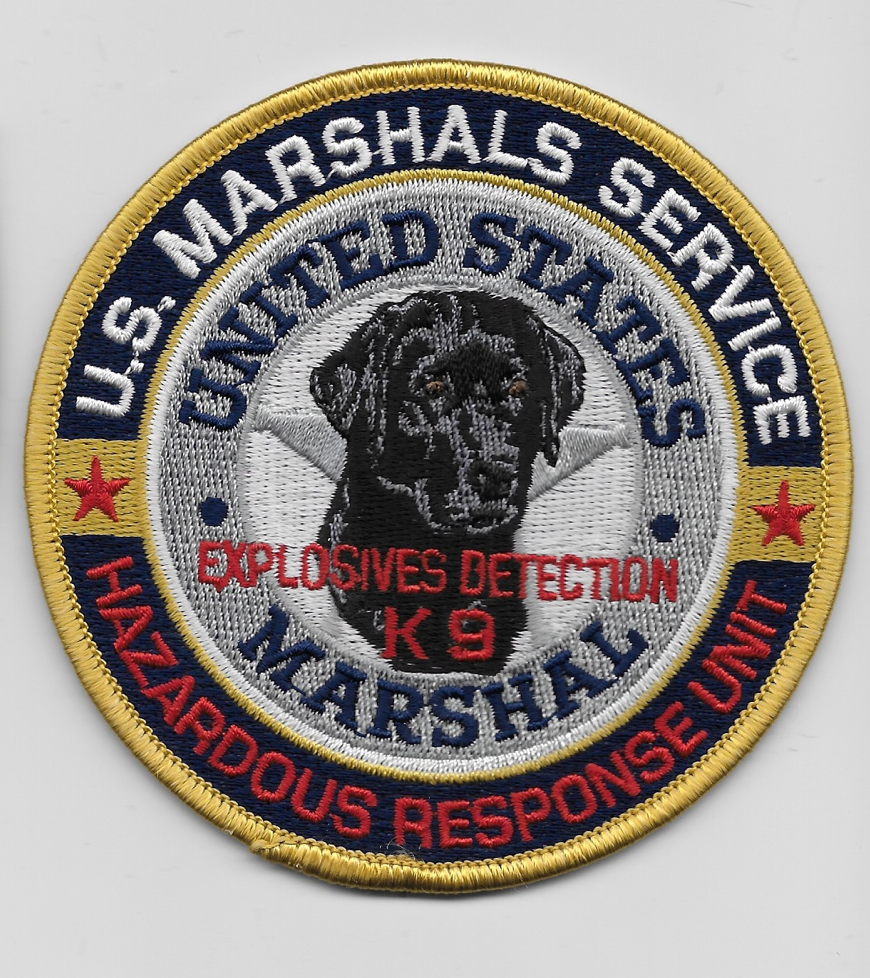 US Marshal EOD k9 HAZ MAT Full Color