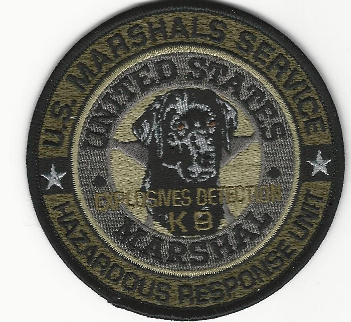 US Marshal EOD k9 HAZ MAT Subdued