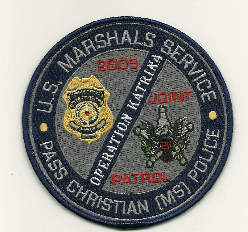 US Marshal Pass Christian Mississippi OP Katrina USS Sticker