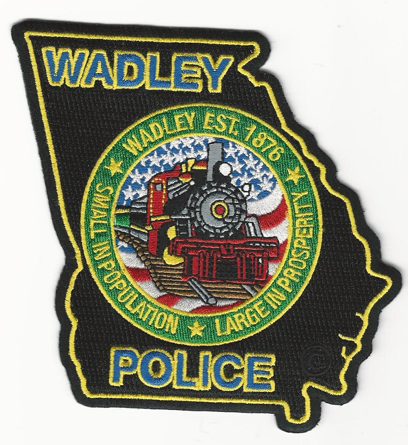 Wadley POlice State Georgia State Shaped TRAIN patch
