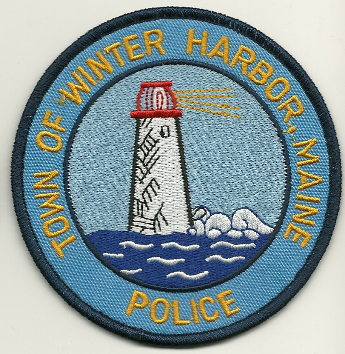 Winter Harbor Police State Maine ME Lighhouse